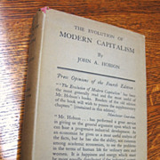Antiquarian Book: The Evolution of Modern Capitalism by John A. Hobson, 1928, Hardcover w/ ...