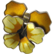Vintage David-Andersen Sterling Enamel Norway Yellow Pansy Ring