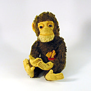 "Near mint vintage Schuco ""Tricky"" Yes/No monkey toy 13"""