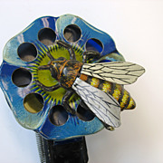 Very unusual vintage tin litho spark toy-mechanical BEE!