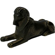 Highest quality Victorian bronze figure of an Egyptian Sphinx