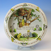 Early Winnie the Pooh porcelain Baby bowl Richard Krueger NY