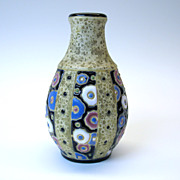 Amphora Art Deco enameled pottery vase