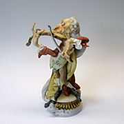 "Italian Capodimonte Kings porcelain  ""The Violinist"" figure"