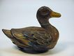 Early tin lithographed friction toy DUCK
