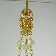 SALE 18K Solid Gold~ VVS2 Canary Diamond earrings