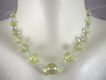 18K Solid Gold~ AAA Lemon Citrine & Blue Zircon &quot;Baubles&quot;  Necklace