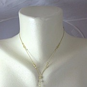 SALE 18K Solid Gold~ One-of-a-Kind Prasiolite & Diamond necklace