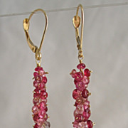 SALE 18K Solid Gold~ AAA Spinel & Diamond Drop Dusters