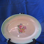 Homer Laughlin Floral Oval Platter Made July 1935