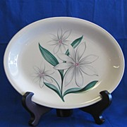 Homer Laughlin Bali Flower Platter