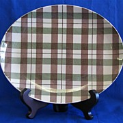 Retro Homer Laughlin Highland Plaid DuraPrint Platter