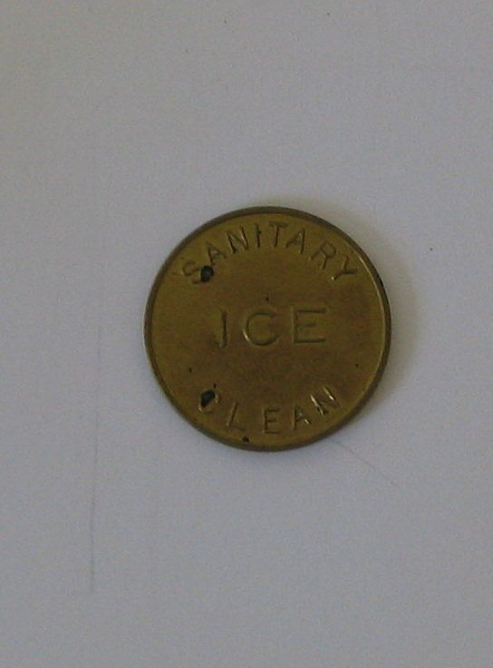 Sanitary Clean Ice Metal Token - Golden in Color
