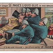 Le Page's Liquid Glue Trade Card