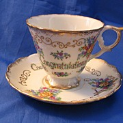 Chase Japan China Cup and Saucer Congratulations