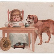 J & P Coats Best Six Cord Thread Trade Card
