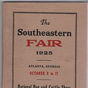 The Southeastern Fair October 8 to 17 1925 Atlanta GA