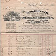Schieffelin & Co Wholesale Druggists New York NY 9/12/01