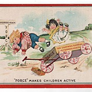 Force Cereal Advertising Postcard Wagon Wreck Children