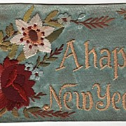 Silk w/ Silk Embroidery Thread A Happy New Year