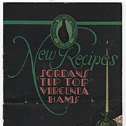 Pamphlet New Recipes Jordan's Tip Top Virginia Hams