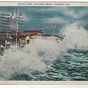 Rough Surf Daytona Beach Florida FL Postcard