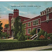 Central High School Jackson Mississippi MS Postcard