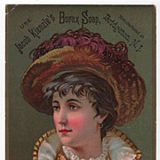 Jacob Kienzle's Borax Soap Trade Card Bridgeton New Jersey