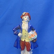 Colonial Gentleman in Royal Blue Coat Hand Painted Made in Occupied Japan
