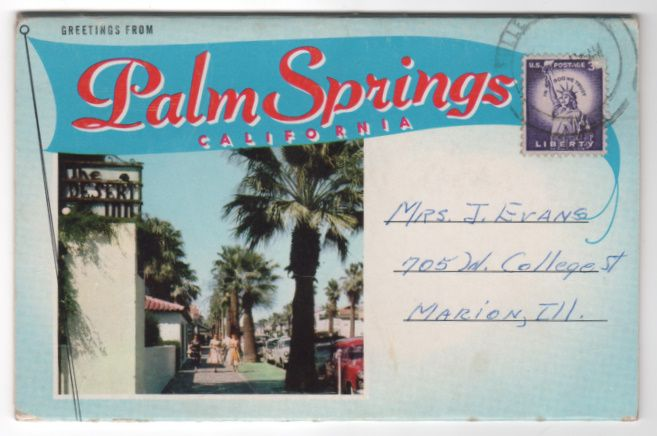 Souvenir Folder Greetings from Palm Springs CA California
