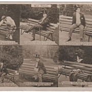 Real Photo Masher on a Newly Varnished Bench Bamforth Photo Comic Postcard