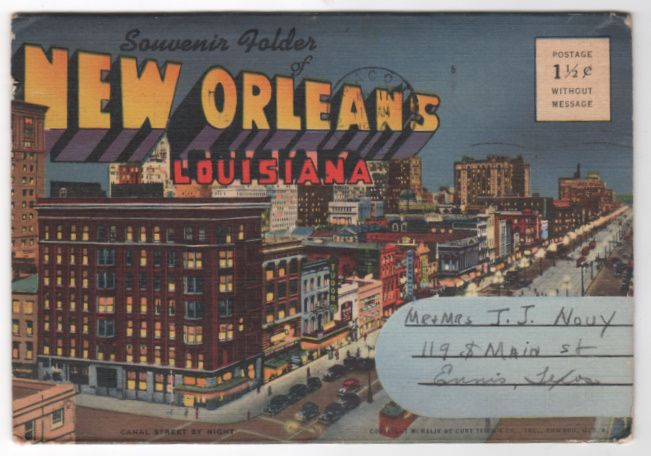 Souvenir Folder of Nw Orleans LA Louisiana