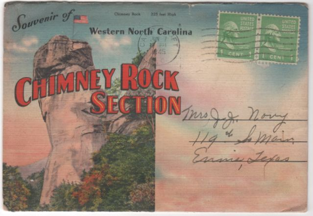 Souvenir of Western NC North Carolina Chimney Rock Region