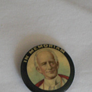 In Memoriam Probably a Catholic Prelate Vintage Pinback Button