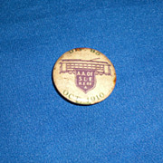Trolley Div 85 Oct 1910 A A of S & E R E of A Vintage Pinback Button