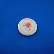 Cleveland Welsh Day 1914 Y Doraig Goch A Dotry Cychwtn Vintage Pinback Button