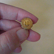 Vintage Brotherhood of Railroad Trainmen 10 Year Anniversary Lapel Pin