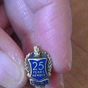 Vintage Brotherhood of Railroad Trainmen 25 Year Anniversary Lapel Pin