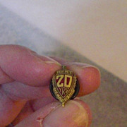 Vintage Brotherhood of Railroad Trainmen 20 Year Anniversary Lapel Pin