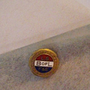 Vintage B of L L S F & E Lapel Pin