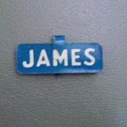 James Political Lapel Pin Unknown Election