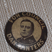 Dan Winters for Council Unknown Place Candidate Pinback Button