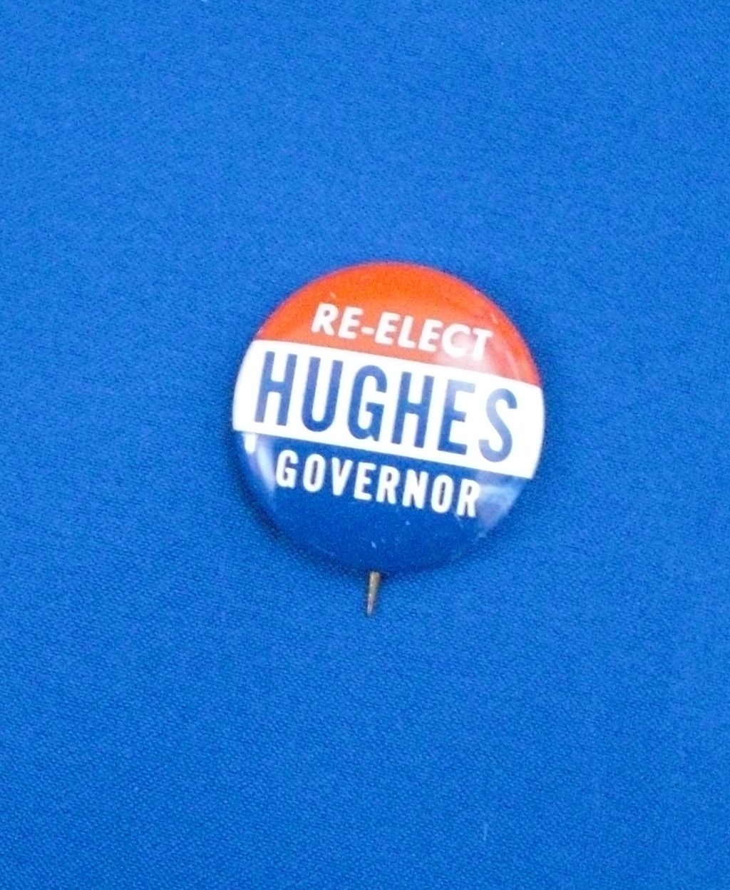 Re-Elect Richard Hughes Governor NJ New Jersey Political Pinback Button
