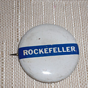 Blue and White Rockefeller Winthrop Jay Nelson Candidate Pinback Button