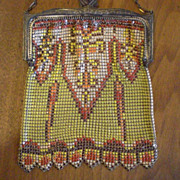 Whiting and Davis LSH Mesh Purse - Arts and Crafts Style