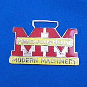 Minneapolis Moline Modern Machinery Advertising Watch Fob