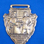 American Legion Thirteenth Annual Convention Detroit MI 1931 Watch Fob