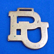 P U Made by Machine Shop Dept of Practical Mechanics Advertising Watch Fob