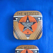 The Webster Star Brand Typewriter Ribbon Tins Two Different Sizes