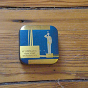 Crow Brand Dark Blue and Gold W F Crowley Co, Milwaukee MN Typewriter Ribbon Tin